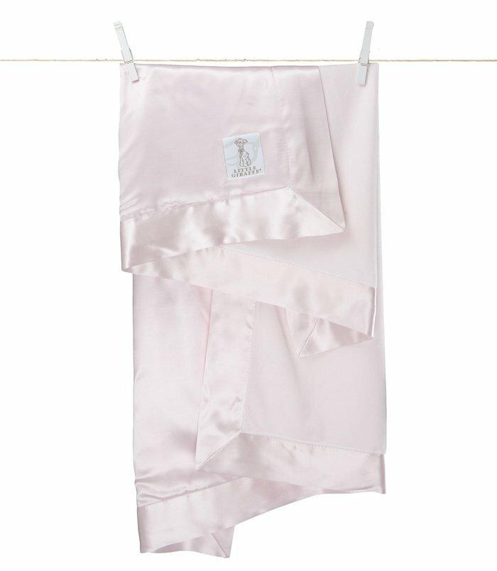 美國Little Giraffe 【天鵝絨豪華系列】天鵝絨豪華嬰兒毛毯-粉紅色