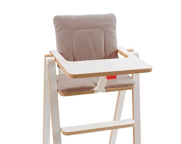 奧地利SUPAflat 兒童折疊高腳餐椅坐墊-灰卡其