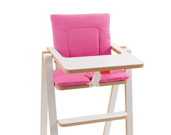 奧地利SUPAflat 兒童折疊高腳餐椅坐墊-公主粉