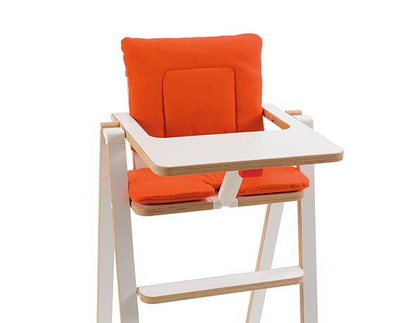 奧地利SUPAflat 兒童折疊高腳餐椅坐墊-南瓜橘