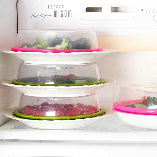 ♚MY COLOR♚可疊加設計保鮮蓋 廚房 微波 冰箱 加熱 防油 噴濺 冷藏 蔬果 食物 【G71】
