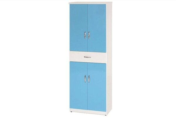 石川家居:【石川家居】894-07(藍白色)鞋櫃(CT-321)#訂製預購款式#環保塑鋼P無毒防霉易清潔