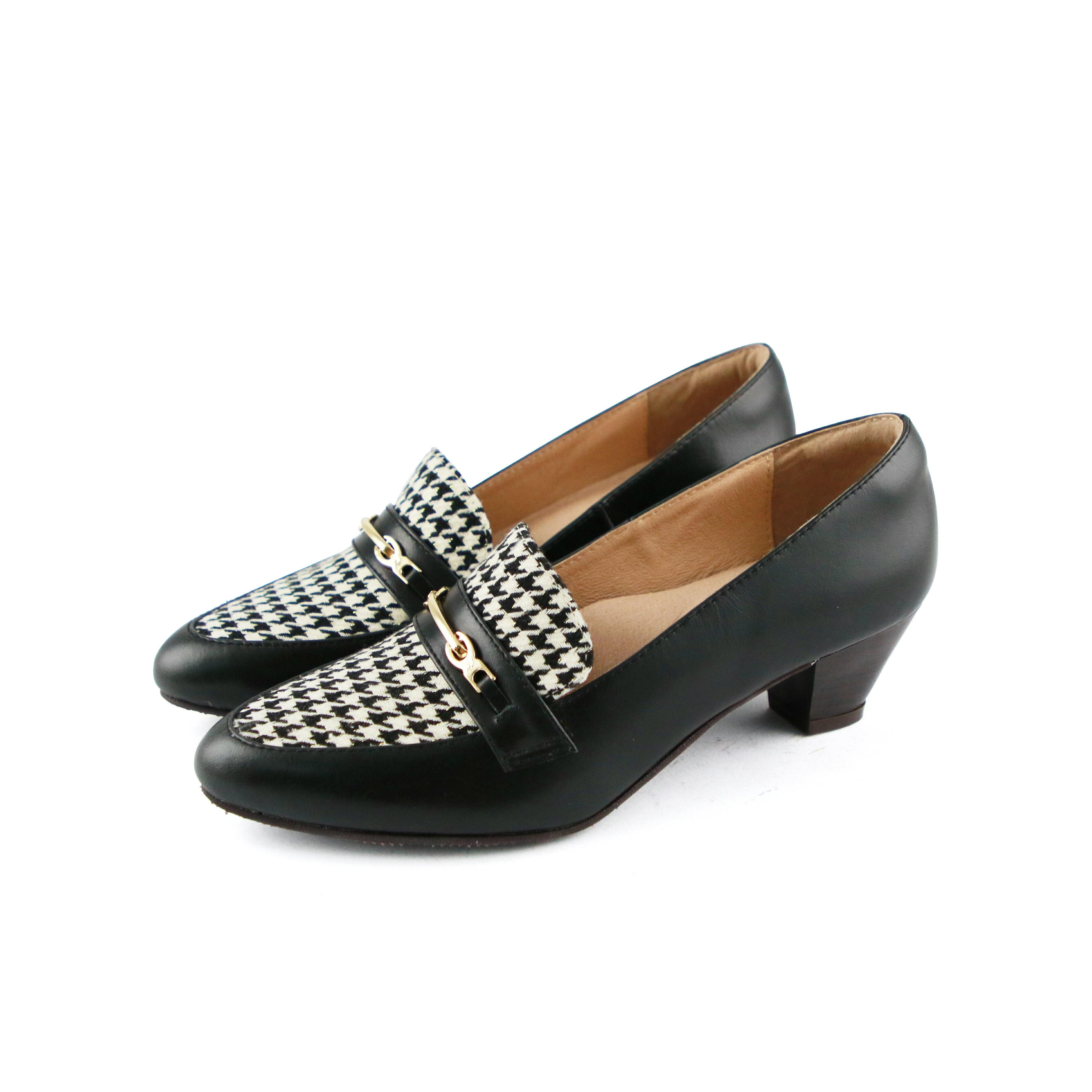 【P2-19131L】飾扣真皮樂福跟鞋_Shoes Party 6