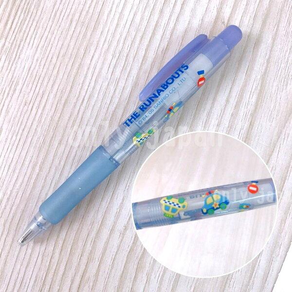 【真愛日本】5062800022日本製軟膠原子筆-小汽車三麗鷗家族小小汽車小車藍色原子筆日本製軟膠筆
