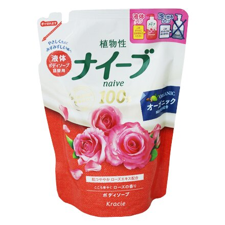 [敵富朗超市]KRACIE娜艾菩沐浴乳/潤澤玫瑰果補充包