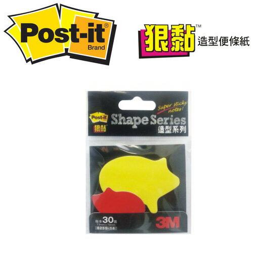 3M ? 625S-14 ? Post-it 狠黏小豬仔可再貼造型便條紙73mmx73mm ?/ 本?