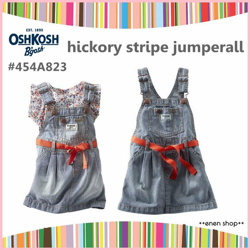++enen shop++ OshKosh B'gosh 單寧條紋吊帶裙 ∥ 12M/18M