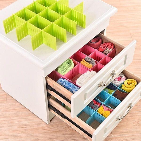 ●MY COLOR●創意組合抽屜隔板 可剪裁 自由 整理 分類 分格 收納 多格 收納板 抽屜分隔板【L22】