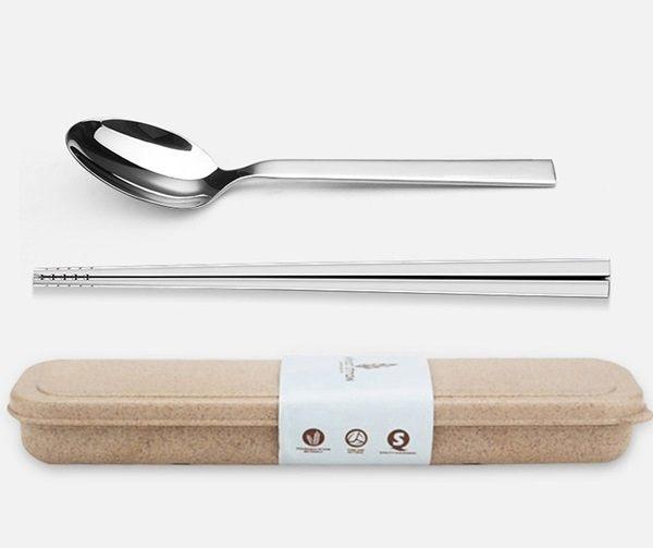 ~MY COLOR~小麥不鏽鋼餐具組 環保 三件 套裝 湯匙 叉子 筷子 用餐 便攜 學生