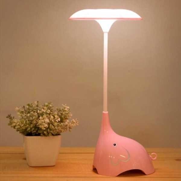 ●MY COLOR●創意大象LED觸控燈 夜燈 桌燈 護眼 床頭燈 充電式 節能 學習 臥室 檯燈 閱讀 【P12】