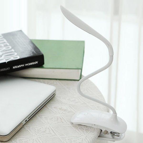 ●MY COLOR●時尚LED護眼夾燈 USB 充電 觸控 檯燈 閱讀 桌燈 學生 小夜燈 寫字 防滑 臥室【P17-1】
