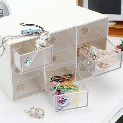 ●MY COLOR●九格抽屜式收納盒 飾品 項鍊 耳環 戒指 收納盒 手鍊 桌面 韓版 儲物 分類【A01-6】