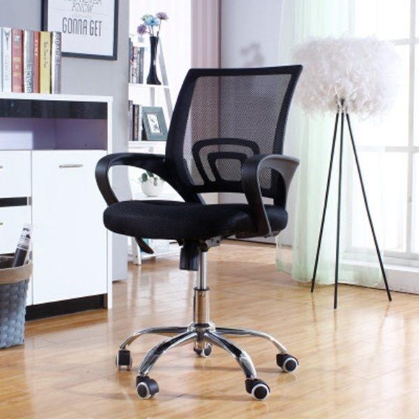 Mycolor:●MYCOLOR●靜音滾輪網布座椅扶手靠背辦公會議電腦已椅辦公室遊戲電腦升降旋轉【W15】