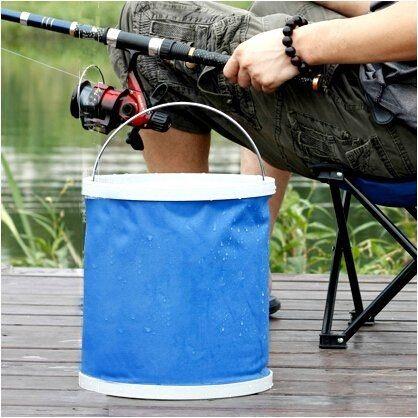 ●MY COLOR●摺疊便攜款水桶 戶外 露營 洗車 汽車 伸縮 釣魚 魚桶 車用 摺疊水桶 加厚 【L58-1】
