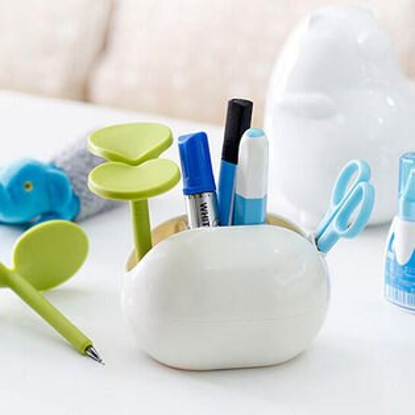 Mycolor:●MYCOLOR●豆豆綠芽桌面收納盒整理分類筆筆筒化妝品多功能收納盒飾品指甲油首飾【Q203】