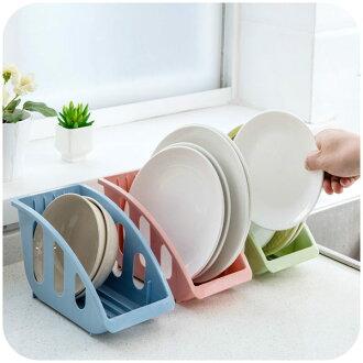 ●MY COLOR●廚房碟盤收納架 瀝水 清洗 茶盤 托盤 簍空 置物 碗盤 瀝乾 餐具 台面 瀝水籃【Q209】