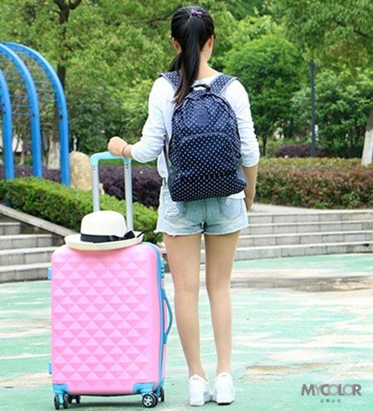 ●MY COLOR●圖案款可摺疊後背包 大容量 收納 置物 旅行 出差 購物 便攜 雙肩 出差 後背包【J13】