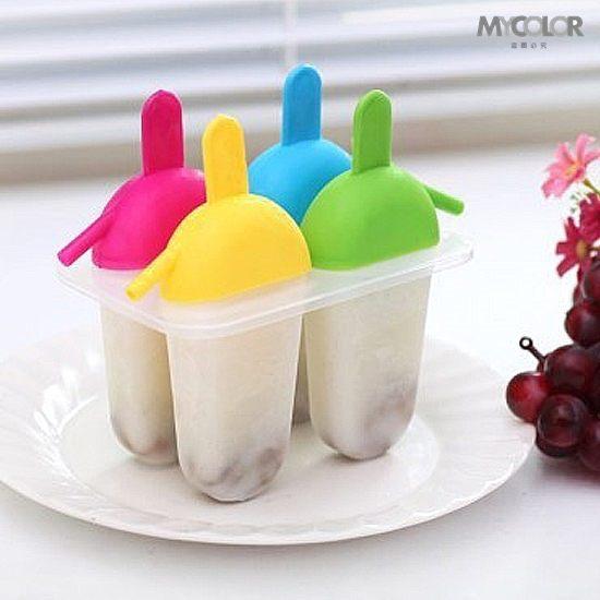 ●MY COLOR●彩色扁形造型模具 雪糕 冰棒 冰格 DIY 廚房 創意 冰箱 冰粒 夏暑 清涼 製冰【J85】