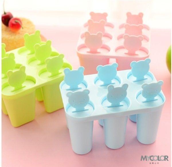 ●MY COLOR●小熊冰棍製冰模具 雪糕 冰棒 冰格 DIY 廚房 創意 冰箱 冰粒 夏暑 清涼 製冰【J82】