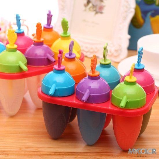●MY COLOR●水果手柄造型模具 雪糕 冰棒 冰格 DIY 廚房 創意 冰箱 冰粒 夏暑 清涼 製冰【J83】