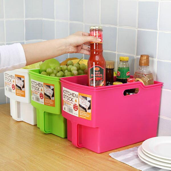 ●MY COLOR●加高帶手把收納籃 置物 分類 儲物 手柄 櫥櫃 吊櫃 大容量 居家 提籃 雜物【A09】