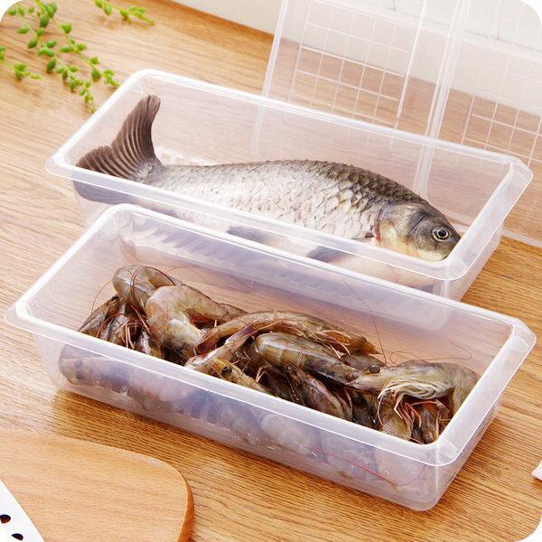 Mycolor:●MYCOLOR●收納瀝水保鮮盒廚房冰箱果蔬魚肉儲存分類密封生鮮沙拉餐具新鮮【J156】