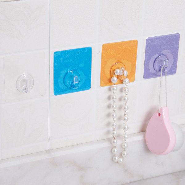 ●MY COLOR●糖果色無痕掛勾(一入) 多功能 廚房 浴室 防水 壁掛 黏貼 水洗 黏鉤 牆壁【J165】