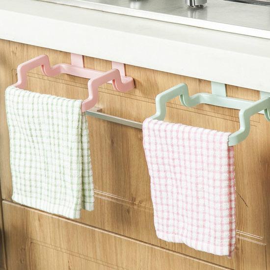 門背式多功能掛架 廚房 抹布 毛巾 雜物 浴室 可調節 可旋轉 簡易安裝 ♚MY COLOR♚【R045】