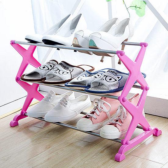 ●MY COLOR●DIY簡易三層鞋架 居家 收納 鞋櫃 多層 臥室 立式 輕便 置物 時尚 角落 整理【W41】