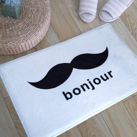 ~MY COLOR~bonjour鬍子圖案地墊 短  門墊 腳墊 地毯 玄關 浴室 廚房