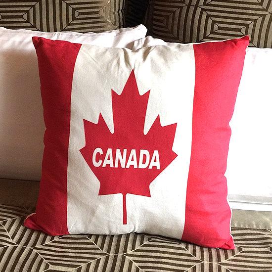●MY COLOR●國旗風格鹿皮絨抱枕 靠枕 枕頭 方枕 靠墊 沙發 枕墊 護腰 枕芯 枕套 可拆洗【V42】