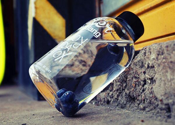 ~MY COLOR~字母圖案透明玻璃杯 小  600ML 麻布套 花茶 飲料 果汁 水杯