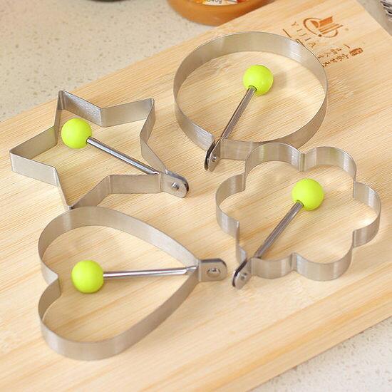 ●MY COLOR●廚房造型煎蛋器 模型 餅乾 烘焙 製作 不鏽鋼 雞蛋 荷包蛋 吐司 雞蛋圈【Q150】