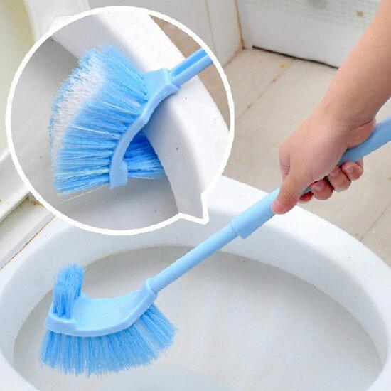 ●MY COLOR●背部刷毛馬桶清潔刷 長柄 浴室 洗廁所 去汙 汙漬 清洗 死角 縫隙 掛 瀝水 【M154】