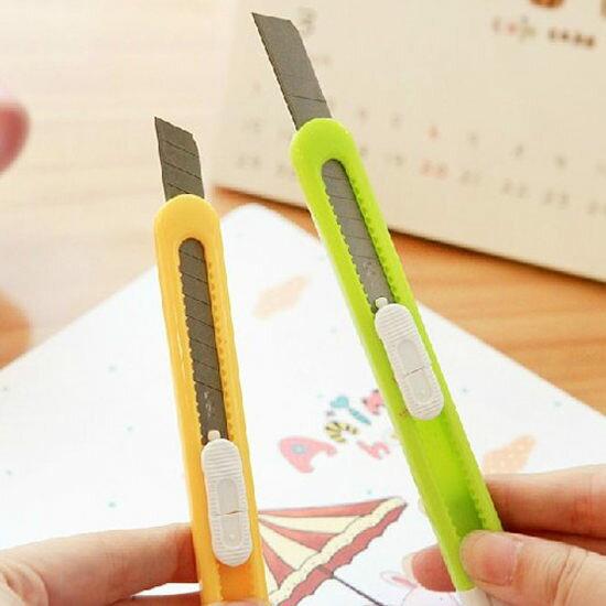 ●MY COLOR●糖果色推式美工刀 刀片 文具 學生 美術 辦公室 桌面 切割 手作 創造 作業【K109-1】