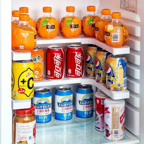 ●MY COLOR●叠加伸缩调节置物架 厨房 冰箱 浴室 储柜 调味 酱料 洗漱 收纳 分类 家居 【R49】
