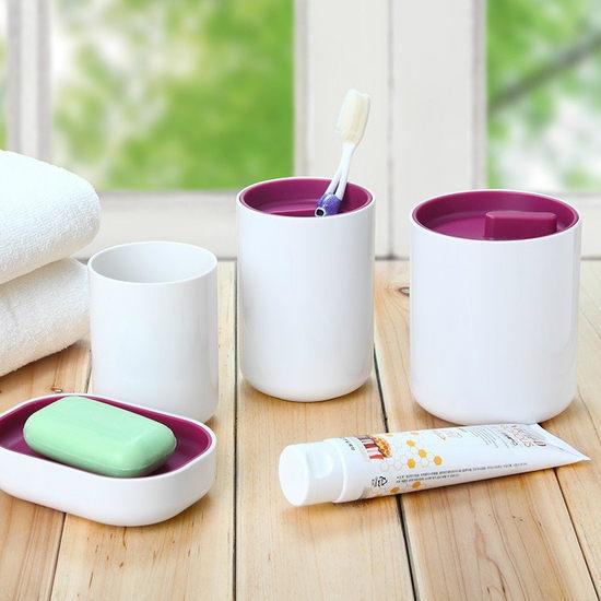 ~MY COLOR~簡約款洗漱四件套組 刷牙 水杯 牙膏 牙刷 香皂 肥皂 衛生 衛浴 浴
