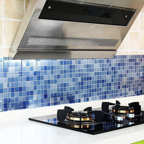●MY COLOR●防水自黏馬賽克牆貼 廚房 浴室 耐高溫 防油 壁紙 磁磚 抽屜 防潮 防髒 剪裁 【H14】