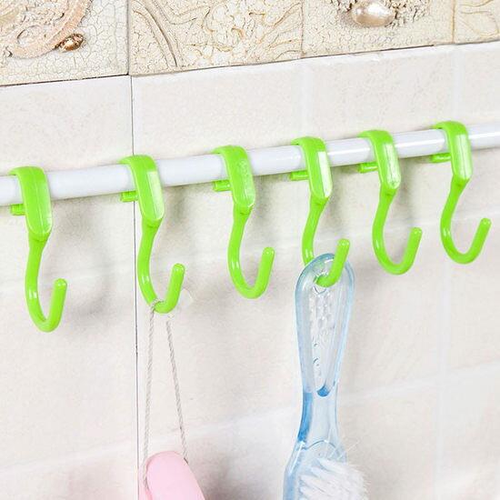 ●MY COLOR●多功能S形掛勾(10個裝) 廚房 浴室 垃圾袋 毛巾 鋼管 懸掛 掛架 晾曬 工具【Q224】