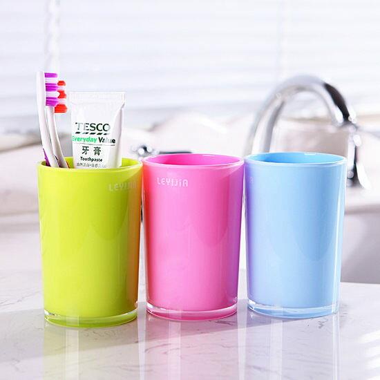 ●MY COLOR●雙層配色漱口杯 刷牙 情侶 兒童 糖果色 水杯 加厚 衛浴 廚房 學習杯 衛浴【Q225】
