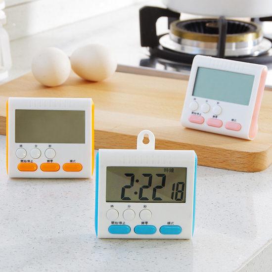 ●MY COLOR●大螢幕電子定時器 數碼 提醒 廚房 料理 烘焙 時鐘 鬧鐘 磁鐵 夾式 冰箱【P36】