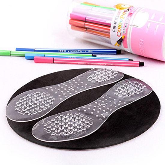 ●MY COLOR●硅膠凸點防滑鞋墊 高跟鞋 柔軟 減震 舒適 彈性 透氣 鞋款 涼鞋 男鞋 女鞋【Q243】