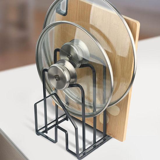 ●MY COLOR●廚房不鏽鋼置物架 鍋蓋 砧板 瀝水 鍋架 菜板 通風 瀝乾 乾燥 衛生【Q251】