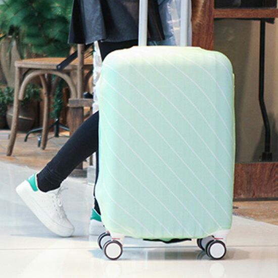 ●MY COLOR●斜紋彈力行李箱防塵罩(L) 旅行 出差 拉桿 圖案 水洗 防塵 登機 保護 耐磨【Z61】