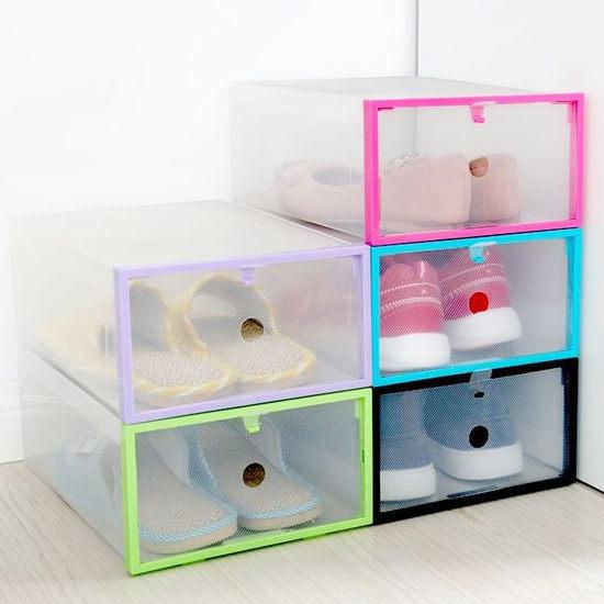 ●MY COLOR●糖果色框可折疊抽屜盒 鞋盒 收納 置物 分類 玩具 雜誌 零食 雜物 透明【Q315】
