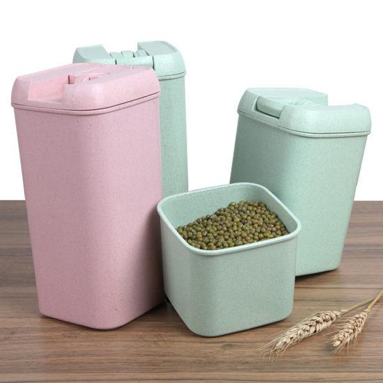 Mycolor:●MYCOLOR●小麥系列易扣罐(中)五穀雜糧食品保鮮廚房收納密封茶葉零食食物【N114】