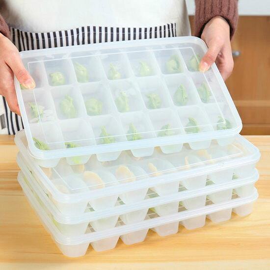 ~MY COLOR~微波解凍餃子盒 疊加 廚房 料理 冰箱 冷凍 冷藏 加蓋 微波爐 食品