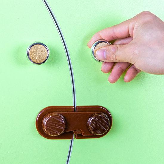 ●MY COLOR●餅乾造型安全鎖 抽屜 櫃門 兒童 防護 冰箱 櫥櫃 鎖扣 防夾 掉落 保護 直角【N123】