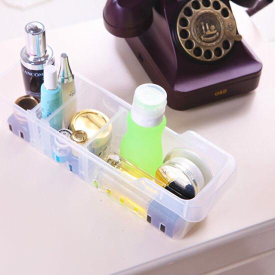 ●MY COLOR●底部鏤空長形收納盒(小) 附隔板 保鮮 置物 分類 洗漱 冰箱 透氣 瀝水【N161】