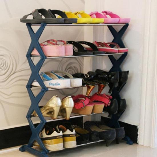 ●MY COLOR●DIY簡易五層鞋 居家 收納 鞋櫃 多層 臥室 立式 輕便 置物 時尚 角落 整理【W65】